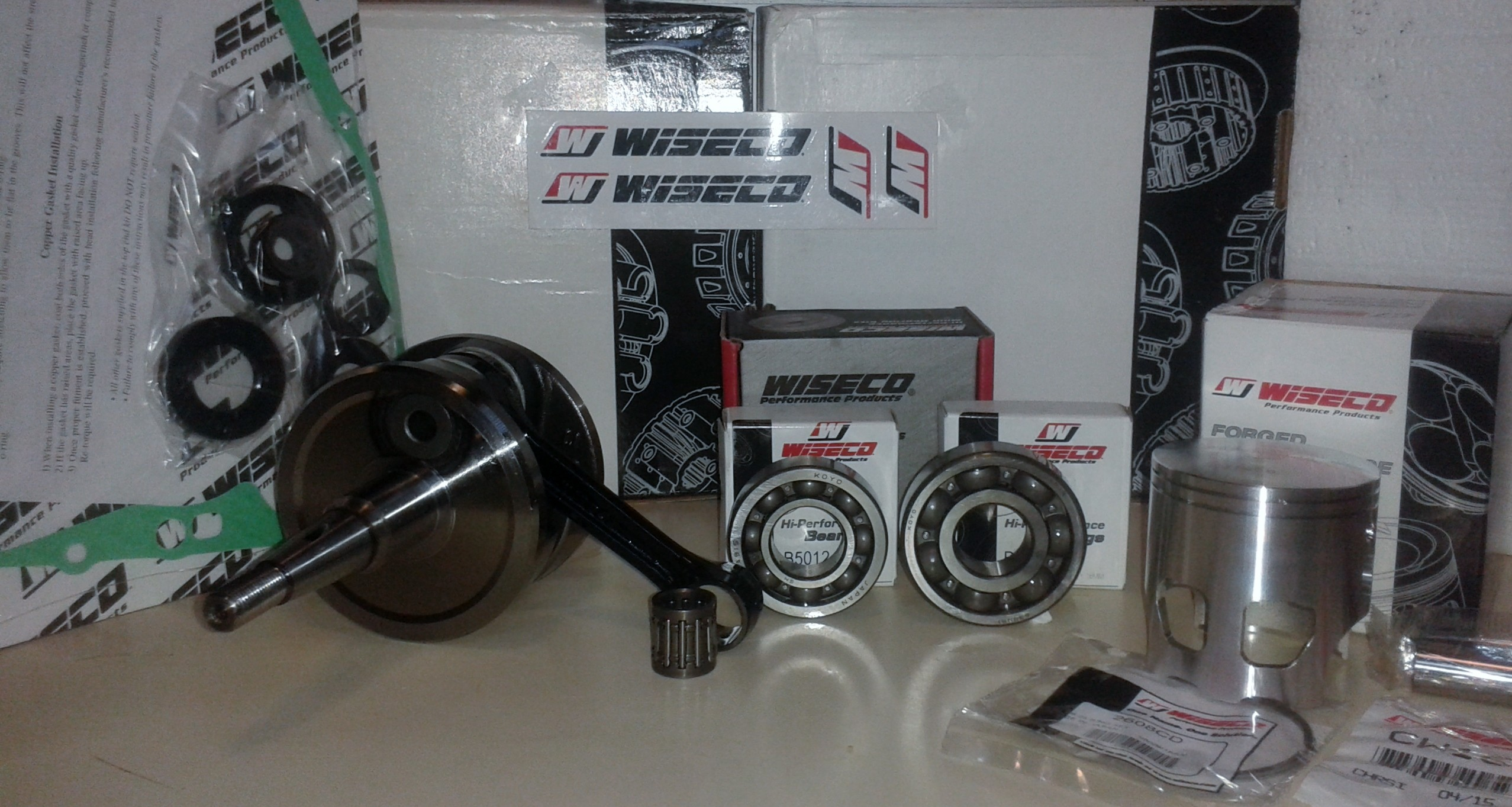 Kit motor Wiseco completo para DT200